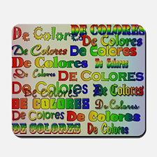 De Colores Fonts Mousepad