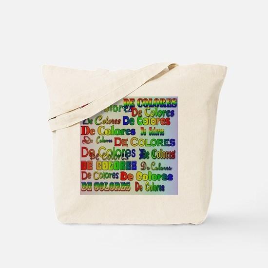 De Colores Fonts Tote Bag