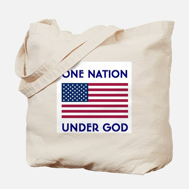 Cute One nation under god Tote Bag