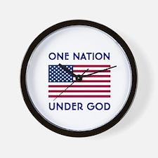 Cute One nation under god Wall Clock