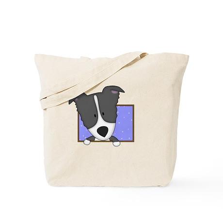 Cartoon Border Collie Tote Bag