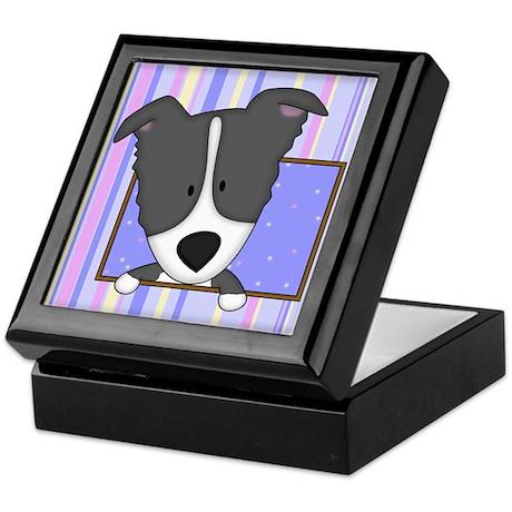 Cartoon Border Collie Keepsake Box