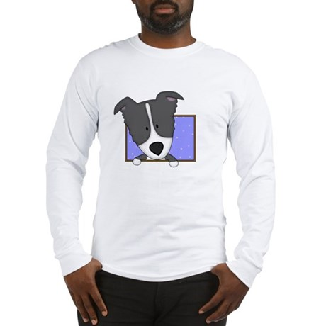 Cartoon Border Collie Long Sleeve T-Shirt
