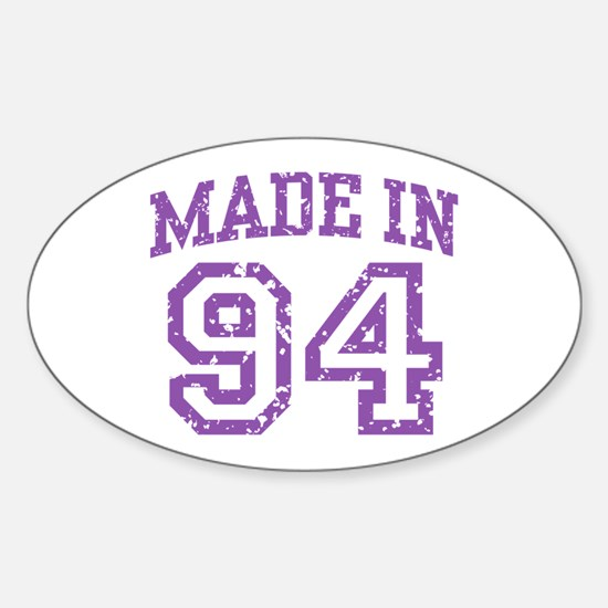 Made in 94 Oval Decal