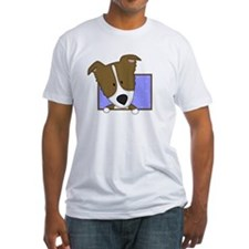 Cartoon Brown Border Collie Shirt