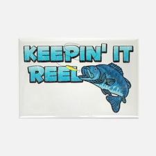 Keepin' It Reel Rectangle Magnet