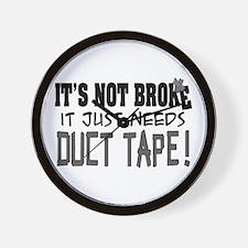 Not Broke - Duct Tape Wall Clock
