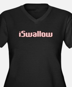i Swallow Women's Plus Size V-Neck Dark T-Shirt