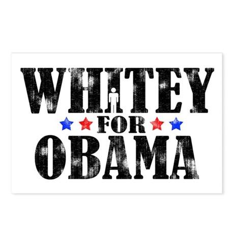 Whitey for Obama Postcards (Package of 8)