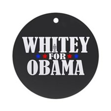 Whitey for Obama Ornament (Round)