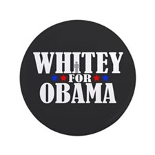 "Whitey for Obama 3.5"" Button (100 pack)"