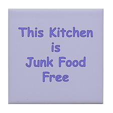 Junk Food Free Tile Coaster