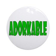 Adorkable Ornament (Round)