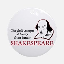 Shakespeare Literacy Ornament (Round)