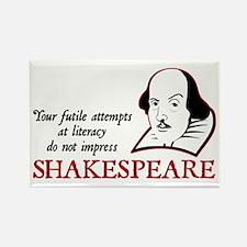Shakespeare Literacy Rectangle Magnet