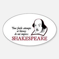 Shakespeare Literacy Oval Decal