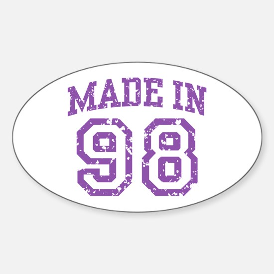 Made in 98 Oval Decal