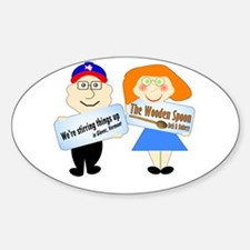 The Wooden Spoon Oval Decal