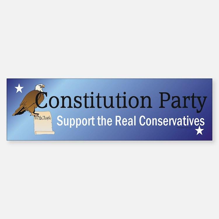 Constitution Party Bumper Bumper Sticker