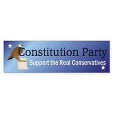 Constitution Party Teepossible.co Car Sticker