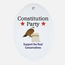 Constitution Party Oval Ornament