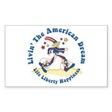 American Dream Rectangle Decal