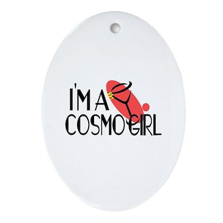 I'm a Cosmopolitan Girl (Cosmo) Oval Ornament