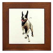 Running Dog Framed Tile