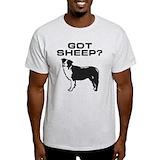 Border collie t-shirt Mens Light T-shirts