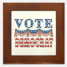 Vote Democrat Framed Tile