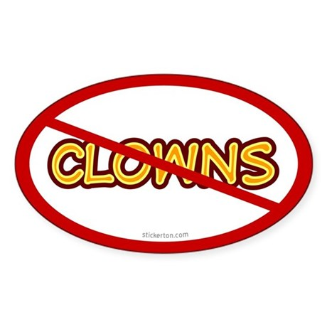 Anti Clown Oval Sticker