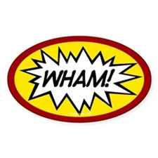 Wham! Oval Stickers