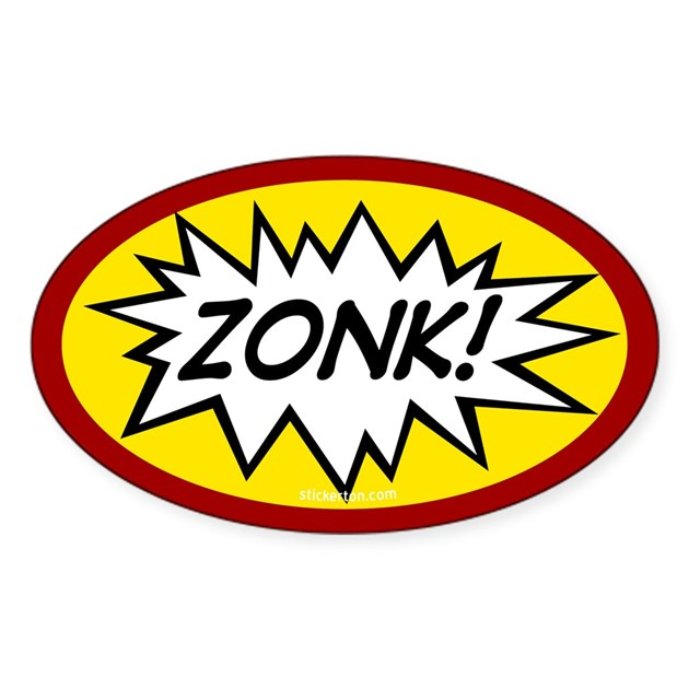 Zonk Oval Decal By Stickerton