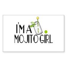 I'm a Mojito Girl Rectangle Decal