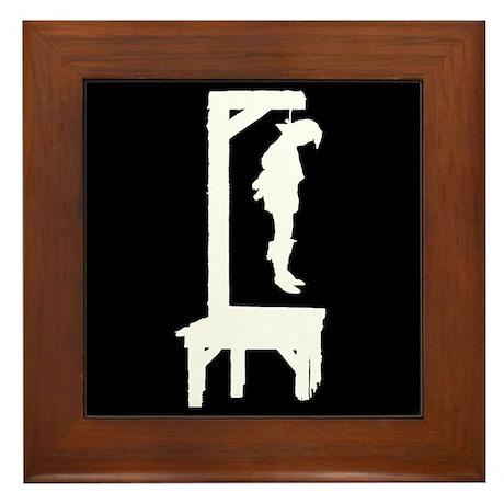 Well Hung Man 2 Framed Tile