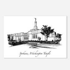Spokane, Washington Temple 2 Postcards (Package of