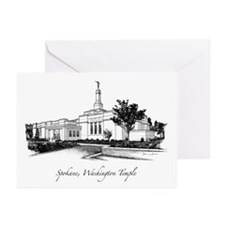 Spokane, Washington Temple 2 Greeting Cards (Pk of