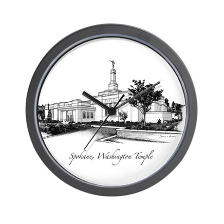 Spokane, Washington Temple 2 Wall Clock