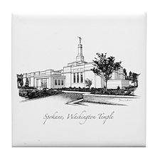 Spokane, Washington Temple 2 Tile Coaster