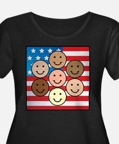 America People of Many Colors T