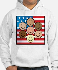 America People of Many Colors Hoodie