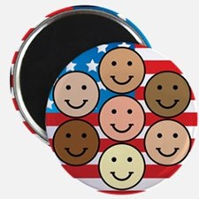 """America People of Many Colors 2.25"""" Magnet (10 pac"""