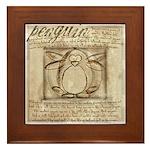 Vitruvian Penguin Framed Tile