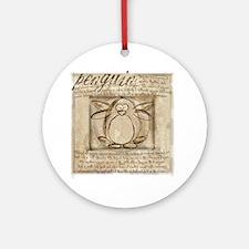 Vitruvian Penguin Ornament (Round)