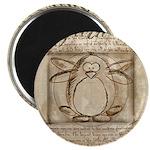 Vitruvian Penguin Magnet