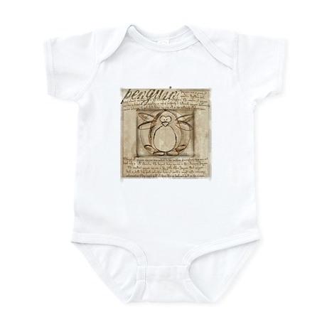 Vitruvian Penguin Infant Bodysuit