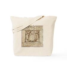 Vitruvian Penguin Tote Bag