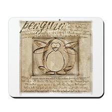 Vitruvian Penguin Mousepad