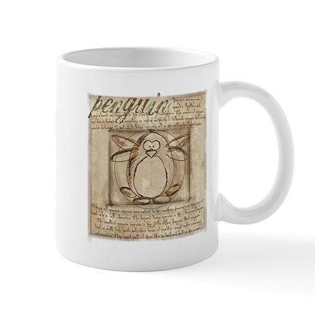 Vitruvian Penguin Mug