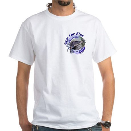 """""""Save the Blue"""" White Tee"""